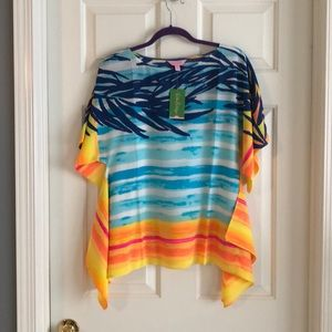 Lilly Pulitzer Silk Caftan Top Size XS